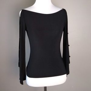 Forever 21 Long Sleeve Shirt Peek A Boo Shoulders
